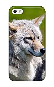 Premium [GGlkrzh708cAzQT]three Gray Wolfes In Grass Case For Iphone 5/5s- Eco-friendly Packaging