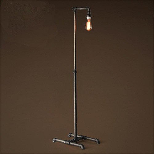 TOYM US-Industrial pipe floor lamp retro decorative wrought iron floor lamp living room by Floor Lamp