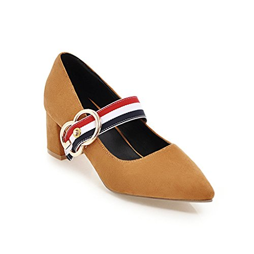 Sugerencia satin áspero y con zapatos de mujer a la luz de la sola zapatos yellow