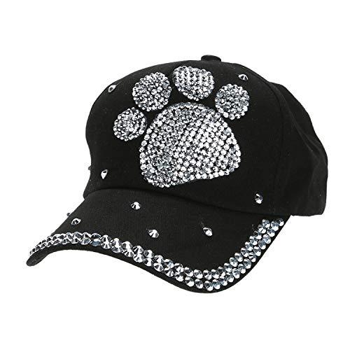 カジュアル 子供 野球帽子 女の子男の子 ダイヤモンド帽子,ブラック,プラムブロッサムプー