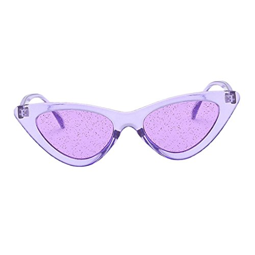 marco de para de púrpura púrpura Regalo Lente Fiesta púrpura Chica Estilo Anteojos Sol UV400 Vacaciones de púrpura Cumpleaños Gafa Baoblaze Viaje marco Lente Retro Mujer q86Pgg