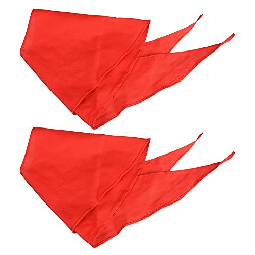 Bluecell 2pcs Red Children Triangle Scarf Chinese Hong Ling Jin for Young Pioneer of -