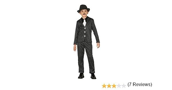 Guirca - Disfraz de Ganster, talla 10-12 años, color negro (83328 ...