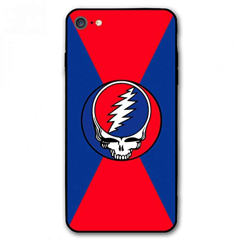 "iPhone 7 Case,iPhone 8 Case,Rock Band Silicone Bumper Frame and PC Back Cover Cases for iPhone 7/8 4.7"" (Grateful-Dead)"