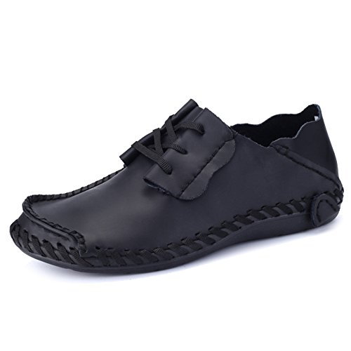 Leather Driving MERRYHE Slip Ups Mens Classic On Deck Black Large Yachting Shoe Mocassini Lace Boat Size Shoes Flats Boat EEqBrP4