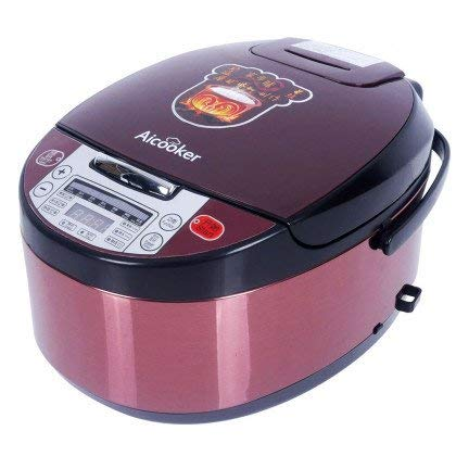 Aicooker Clay Pot Rice Cooker – digital Slow Cooker for cooking F401B,4.0-Liter