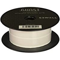 Sewell Ghost Wire, Super Flat Adhesive Speaker Wire, 16 Awg, 2 Conductor, 50 Ft. Spool, White