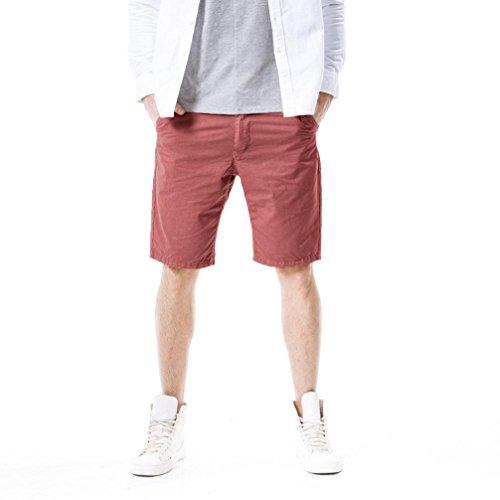 PASATO New! Mens Casual Pocket Beach Work Casual Short Trouser Shorts, Classic Gargo Pants(Watermelon Red, ()