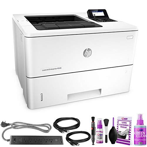 HP? Laserjet Enterprise M506dn Monochrome Laser Printer? - with Extra Extension Cables - Surge Protector - Productivity Bundle
