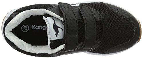 KangaROOS Rodo V - Zapatillas de casa Unisex Niños Negro (Black/White)
