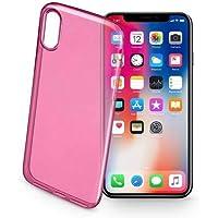 Cellularline COLORCIPH8P Iphone X Color Ultraslim Seffaf Kılıf, Pembe