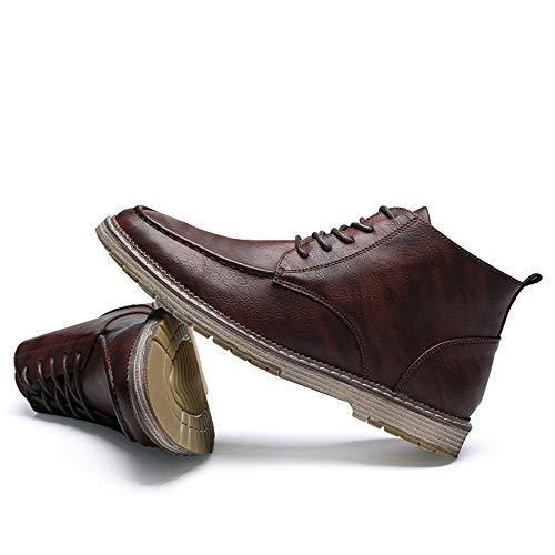 Tamaño Del Zapatillas Botas Botines Trabajo Desierto Altas 47 Zapatos Hombre Brown2 Banquete Cordones Para Grande Formal Con 38 Martin Tops Vestido De w0wZrqT