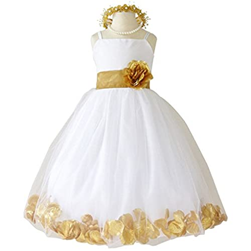 Dress gold an white