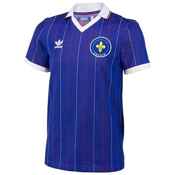 Adidas – Camiseta Maillot Retro Hombre Supporter – E12 Francia, Color Azul, Blanco y