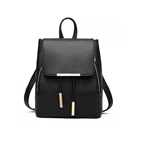 Konduone Women Backpack Leather Shoulder Bag Girl Ladies Casual Mini Purse Fashion School PU Travel School Rucksack