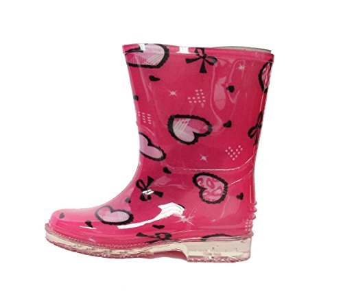Easy USA Kids Rain Boot Shiny Solid Body (Toddler/Little Kid)