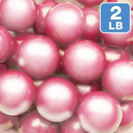 Fun Express Shimmer Bright Pink Large Gumballs - Gifts for The Hostess ()