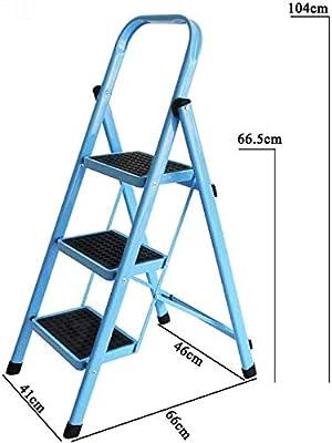 ANXWA Escalera Plegable 3 Peldaios Escaleras Plegables Escaleras Multiusos De Aluminio Escalera De Peldaños De Alto Escalón Escalera 3 Escalones Escalera Pequeña con Pasamanos Escalera De Madera: Amazon.es: Hogar