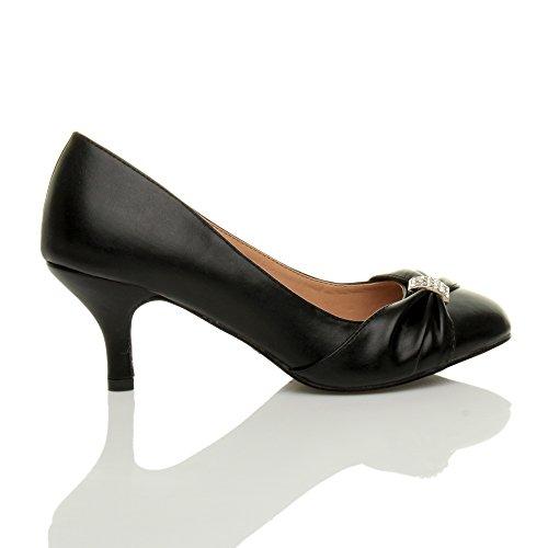 Ajvani - Zapatos de vestir para mujer negro mate