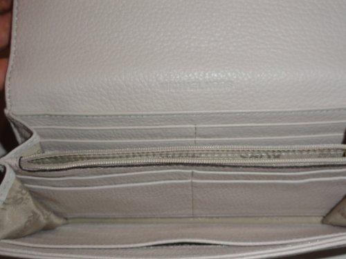 Women's Michael Kors Fulton Flap Continental Leather Wallet Vanilla