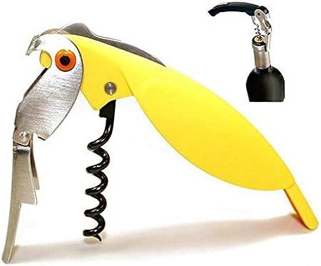 GAOYOO Abrebotellas Parrot Whit Hippocampal Sacacorchos De Acero Inoxidable para Latas Frascos Vino Tinto Botellas De Cerveza Bar Herramientas