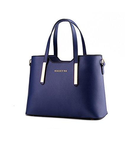 Wewod bolsos bandolera de mujer baratos/bolso al hombro de pu cuero/Carteras de mano/Bolsos totes elegante 33 x 24 x 13 cm (L*H*W) Azul marino