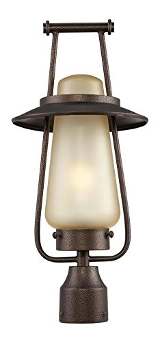 Flemish Bronze Stonyridge 1 Light Outdoor Post Light