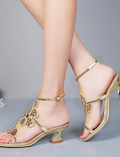 Chaussures En De Et Gros Soirée Noir Or Cuir Femmes Talon Or Shangyi Robe Talons Sandales Casual Fête rnqYr4fw