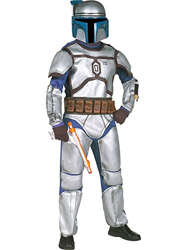 Star Wars Jango Fett Costumes (Kids Deluxe Jango Fett Star Wars Costume LARGE)