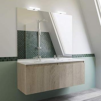 Meuble salle de bain double vasque PROLINE 140 - Cambrian ...