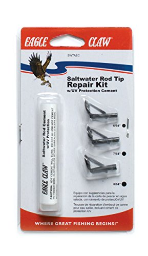 Kit Tip Rod (Eagle Claw SWTAEC Saltwater Rod Tip Repair Kit)