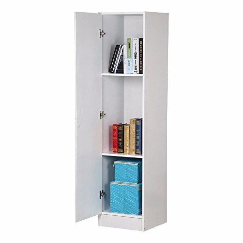 Wood Tall Wardrobe Storage Closet Cabinet Utility Furniture Any Room Organizer from Unbranded