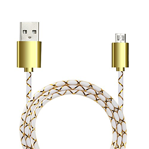 UMFunUniversal Micro USB Charger Cable Charging Cord For Android Phone (Yellow)]()