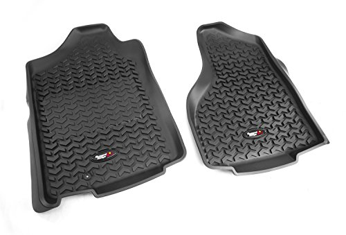 Liner Floor Row (Rugged Ridge All-Terrain 82903.01 Black Front Row Floor Liner For Select Dodge Ram, Ram 1500, 2500 and 3500 Models)