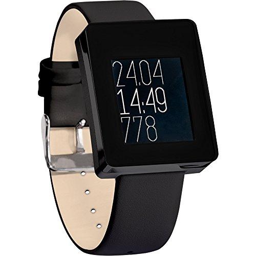 Wellograph Wearable Tech Watch - Black Chrome