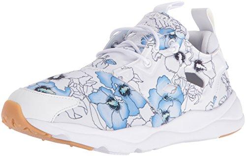 Reebok Women Furylite Fg Fashion Sneaker Floral/White/Black Gum