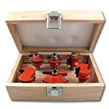 3 4 cabinet router bits - Pit Bull CHIFRB034 1/2-Inch Shank Router Bit for Raised Panel Cabinet Door, 6-Piece