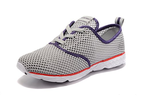Water Grey Women's Walking Shoes Slip Shoes Aqua 2017 Kenswalk On Lightweight xRW4axnp