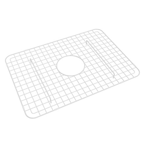 Rohl WSG2418WH 14-9/16-Inch by 20-7/16-Inch Wire Sink Grid for RC2418 Kitchen Sinks in White Abcite -