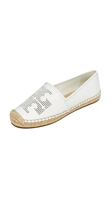 34526a0ab040f9 Tory Burch Perforated Leather Double T Espadrille