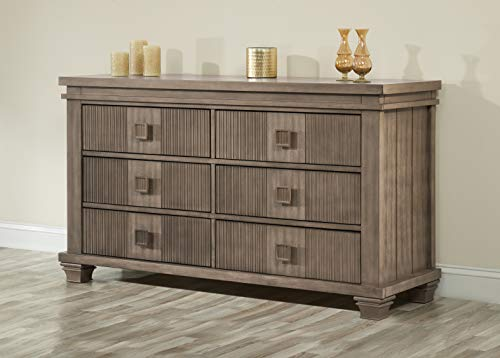 Oxford Baby Mayfield 6 Drawer Dresser, Amber Brown