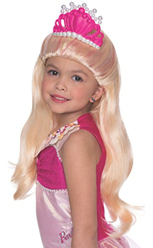 [Rubies Barbie and The Pearl Princess Lumina Wig with Tiara, Child Size] (Barbie Halloween Costumes For Kids)