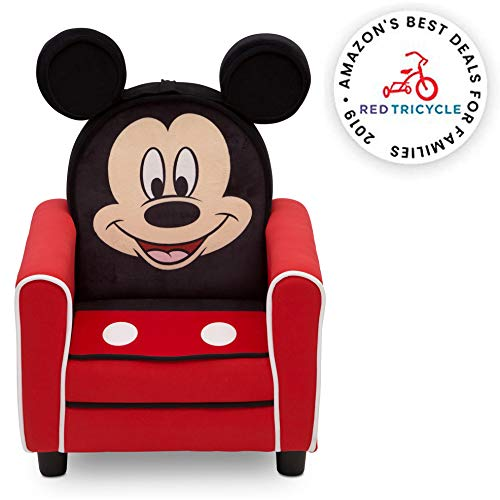 Delta Children Figural Upholstered Kids Chair, Disney Mickey Mouse (Chair Bean Disney Bag)