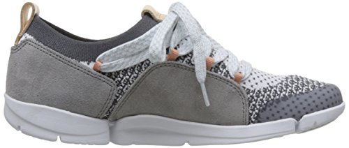 Clarks Damen Tri Amelia Sneaker Grau (grigio Combi)