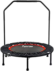 """FLAMROSE 40"""" Fitness Trampolines Foldable Exercise Rebounder Trampoline Home Cardio Fitness for Adults"""