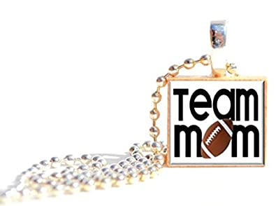 Amazon football team mom scrabble tile pendant necklace or key football team mom scrabble tile pendant necklace or key chain great thank you gift team aloadofball Image collections