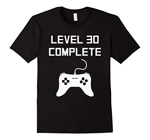 mens-level-30-complete-funny-video-games-30th-birthday-t-shirt-xl-black