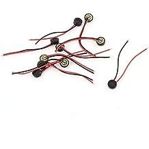 uxcell 10pcs 4mm x 1.5mm Mini Electret Microphone Condenser Pickup w Lead