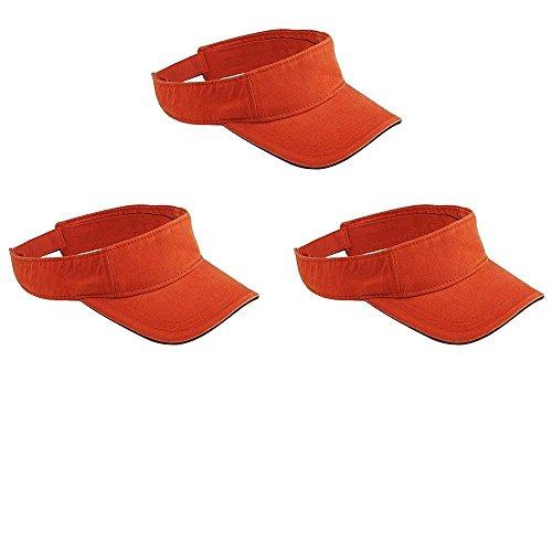 Lot 3 - Chino Twill 3-Panel Visor Cap. (Tangerine)