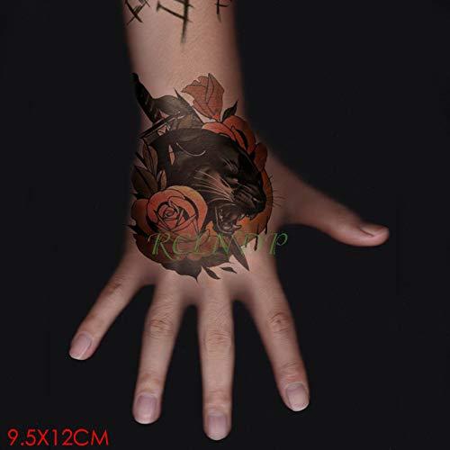 3pcs Tatuaje Impermeable Etiqueta engomada Flor de Luna Tamaño ...